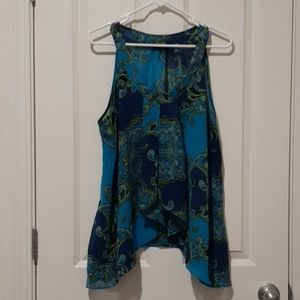 TURQUOISE TUNIC TOP SIZE XL